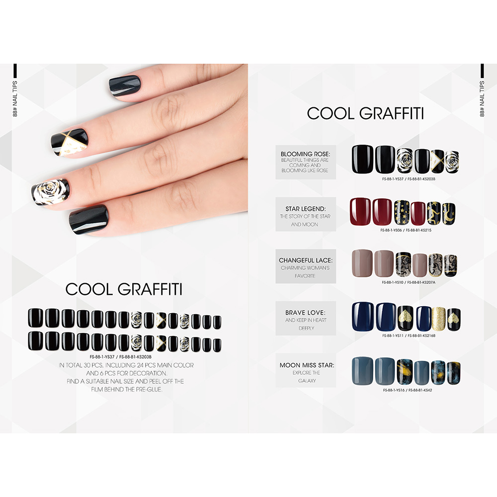 Well-designed Chrome Effect Nail Powder - COOL GRAFFITI NAIL TIPS – Rainbow detail pictures