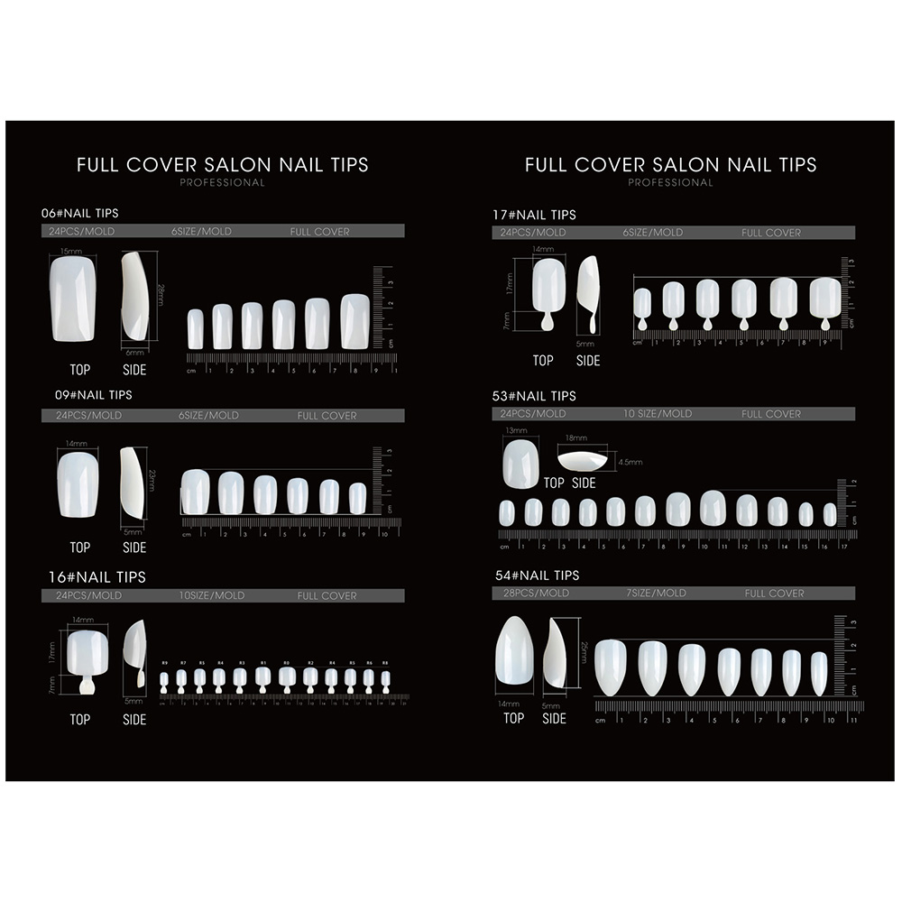 FULL COVER SALON NAIL TIPS