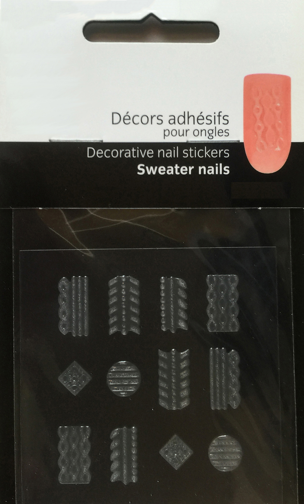 Sweater nail sticker