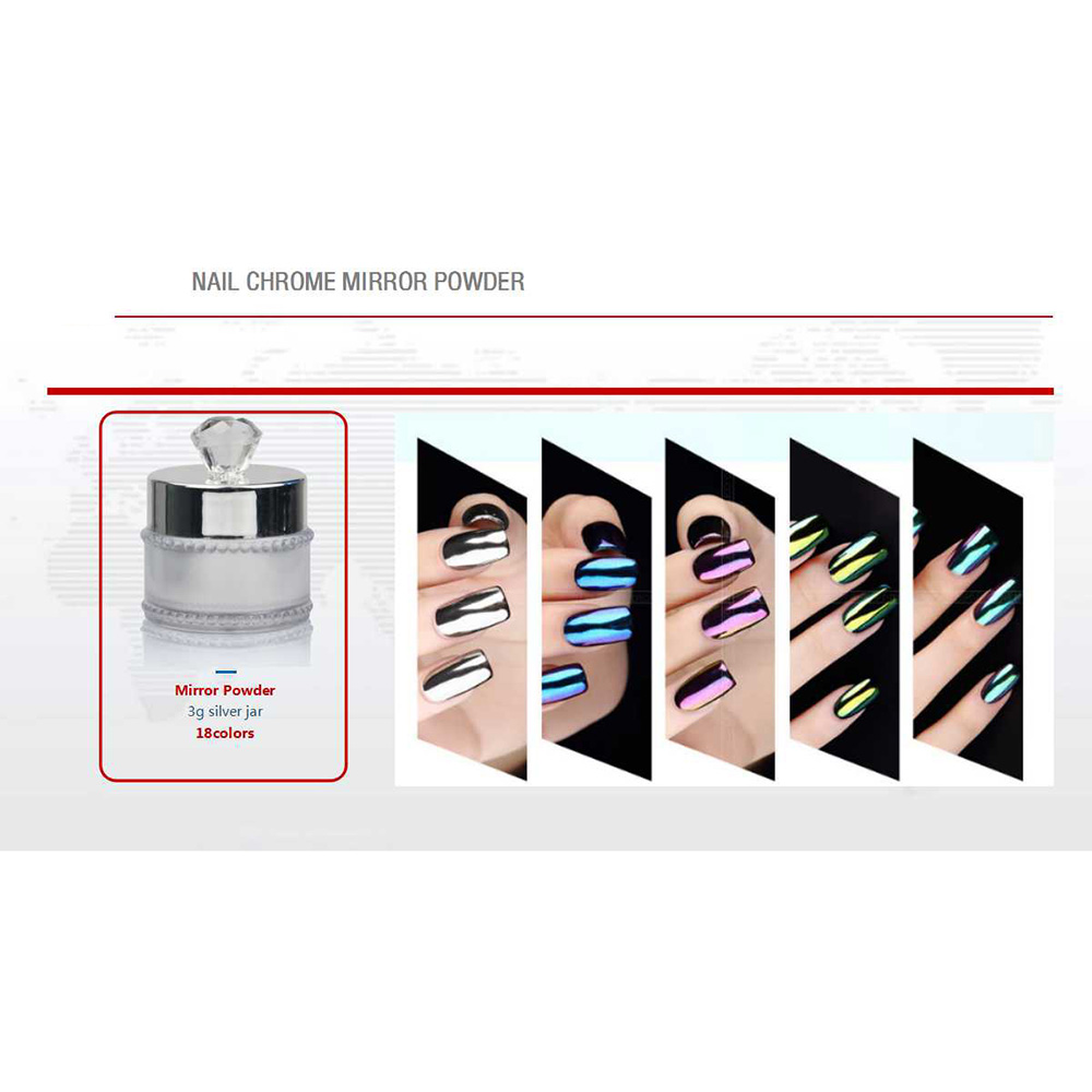 Manufacturer of Colors Glitter Powder - CHROME MIRROR POWDER – Rainbow detail pictures