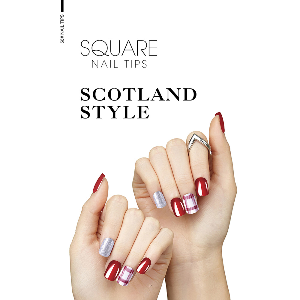 SCOTLAND STYLE SQUARE NAIL TIPS