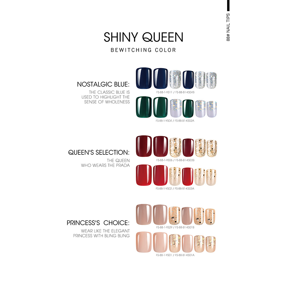 Free sample for Custom Nail Stickers Print - SHINY QUEEN NAIL TIPS – Rainbow detail pictures
