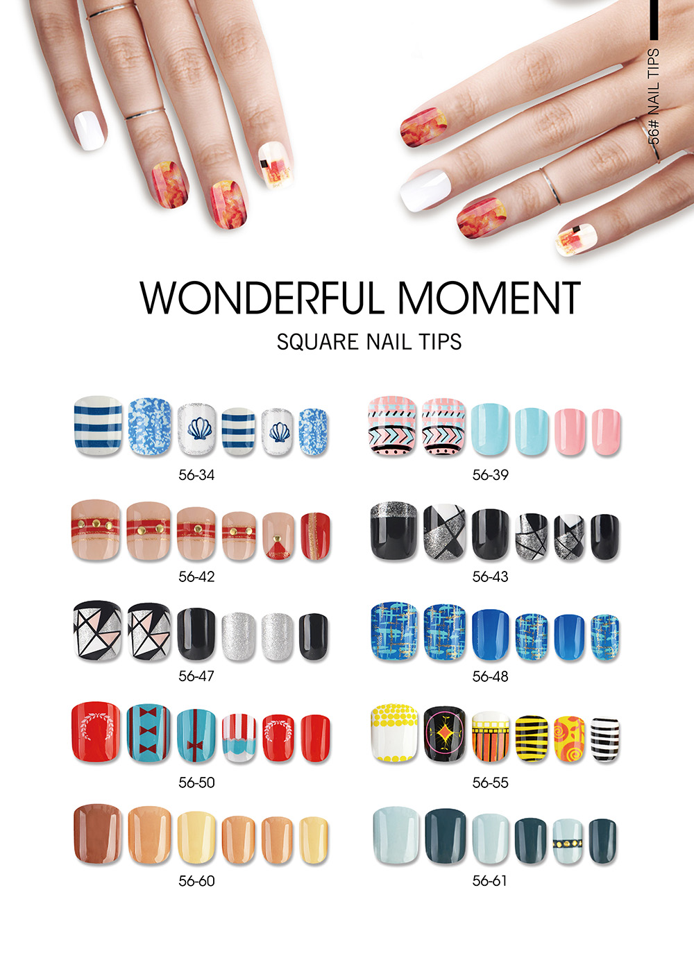 WONDERFUL MOMENT SQUARE NAIL TIPS