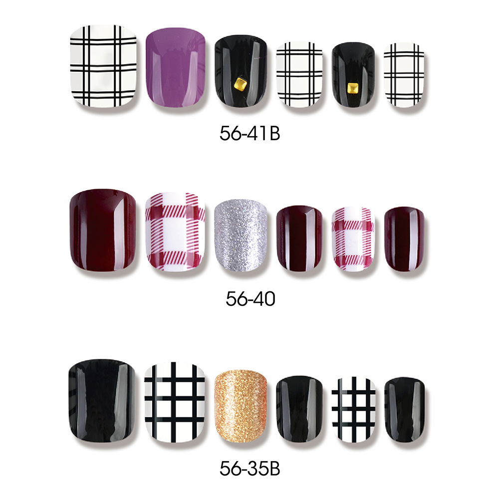 Ordinary Discount Cosmetics Gel Polish - SCOTLAND STYLE SQUARE NAIL TIPS – Rainbow detail pictures