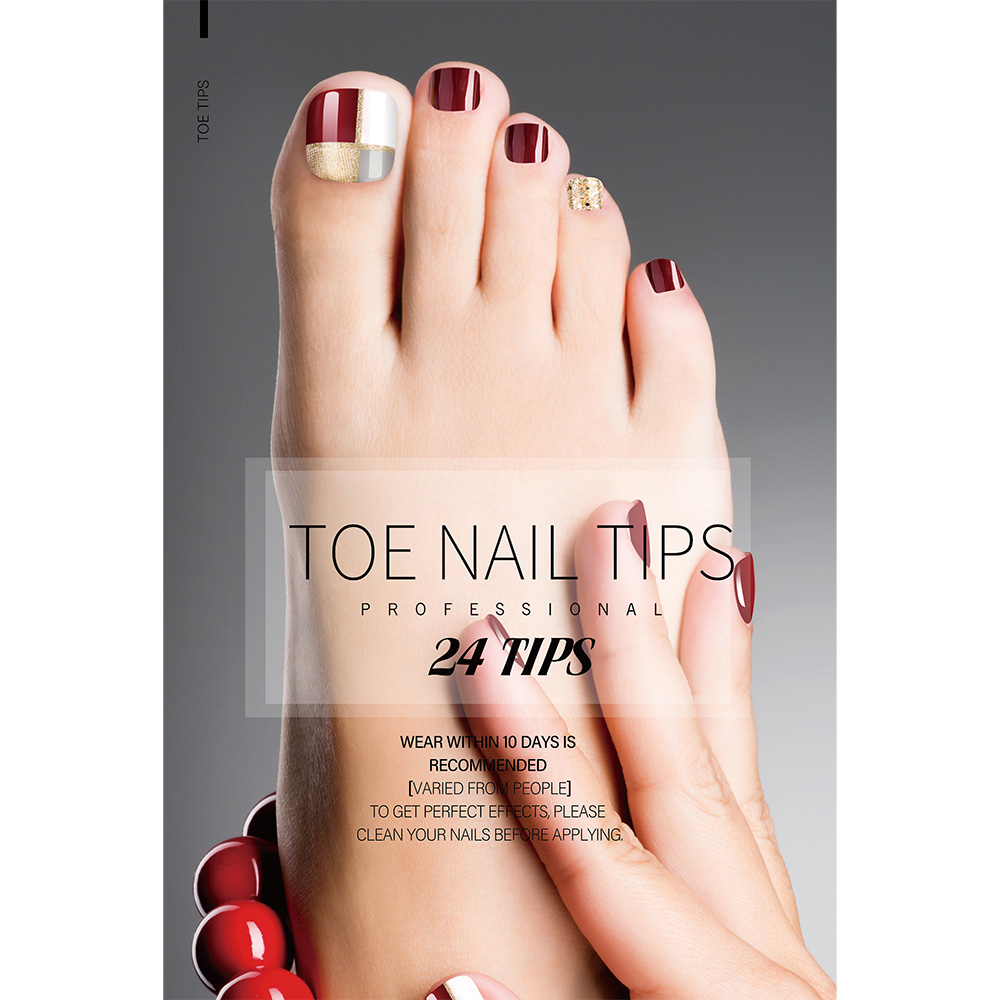 Good Quality 3d Decoration Diamond - TOE NAIL TIPS – Rainbow detail pictures