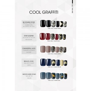 COOL GRAFFITI NAIL TIPS
