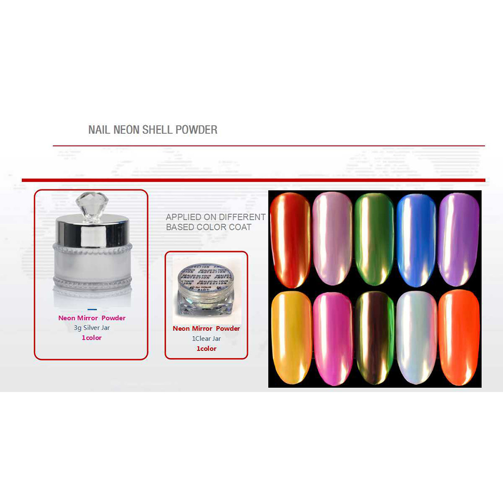 Personlized Products Temperature Color Changing Gel Polish - NAIL NEON SHELL POWDER – Rainbow detail pictures
