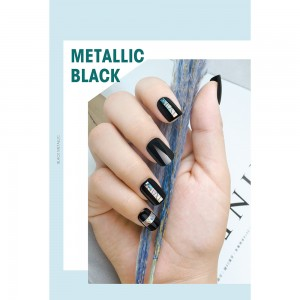 Buy Black Metallic Nail Tips Online- szrainbowstar.com Picture 1