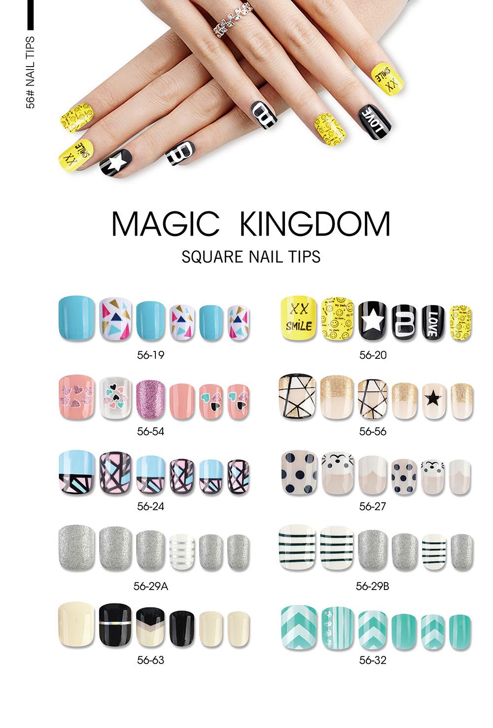 MAGIC KINGDOM SQUARE NAIL TIPS