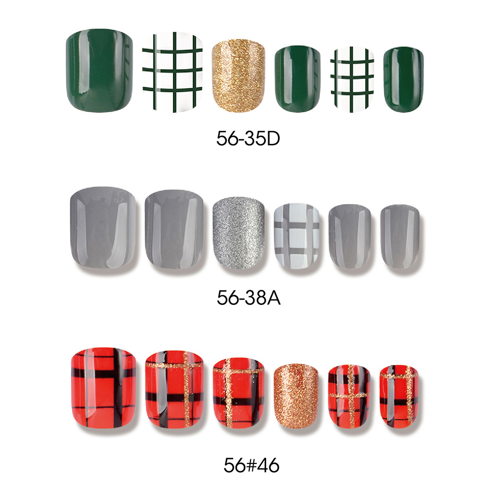 Good quality Builder Gel - SCOTLAND STYLE SQUARE NAIL TIPS – Rainbow detail pictures