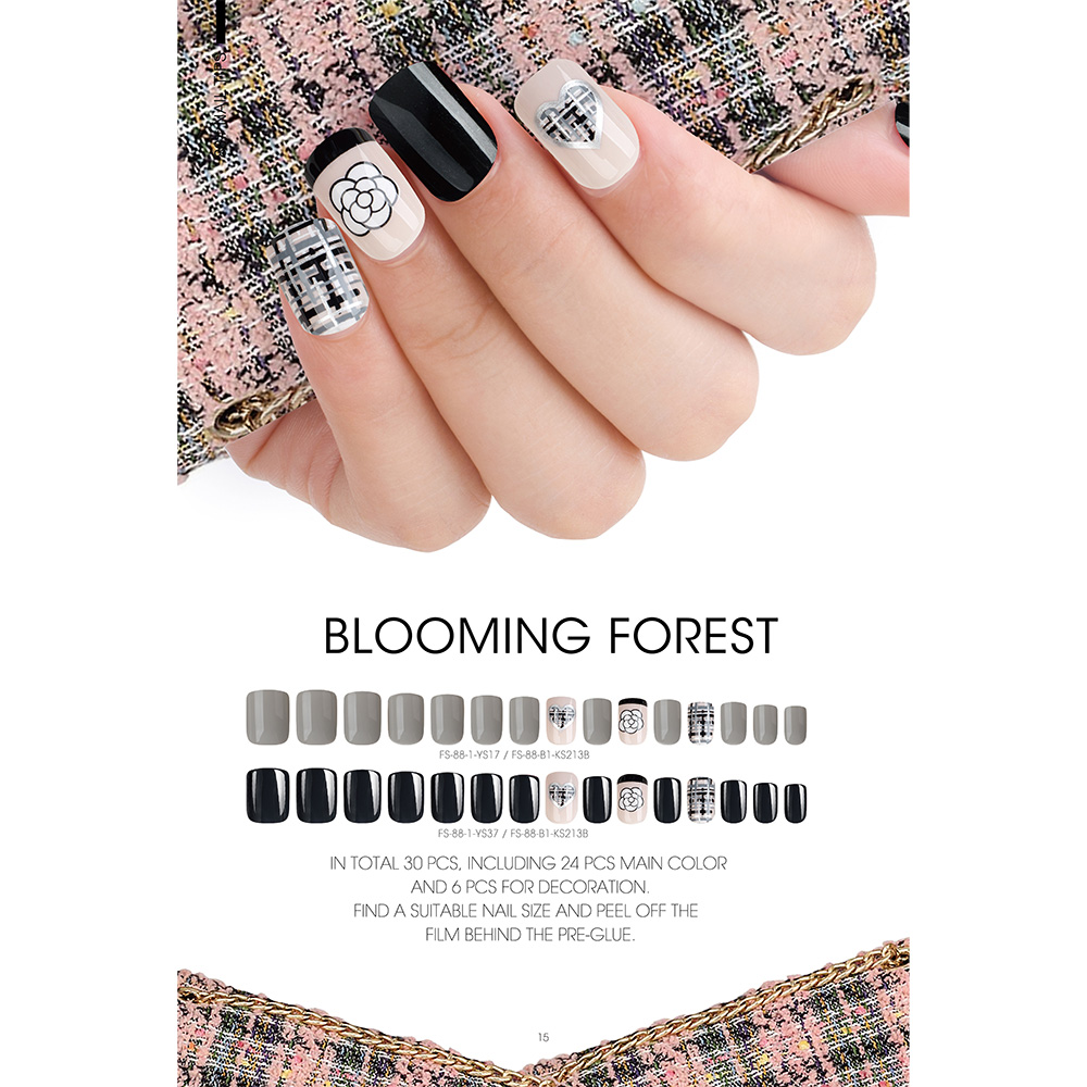 Cheapest Price Nail Polish Uv Gel Led - BLOOMING FOREST NAIL TIPS – Rainbow detail pictures
