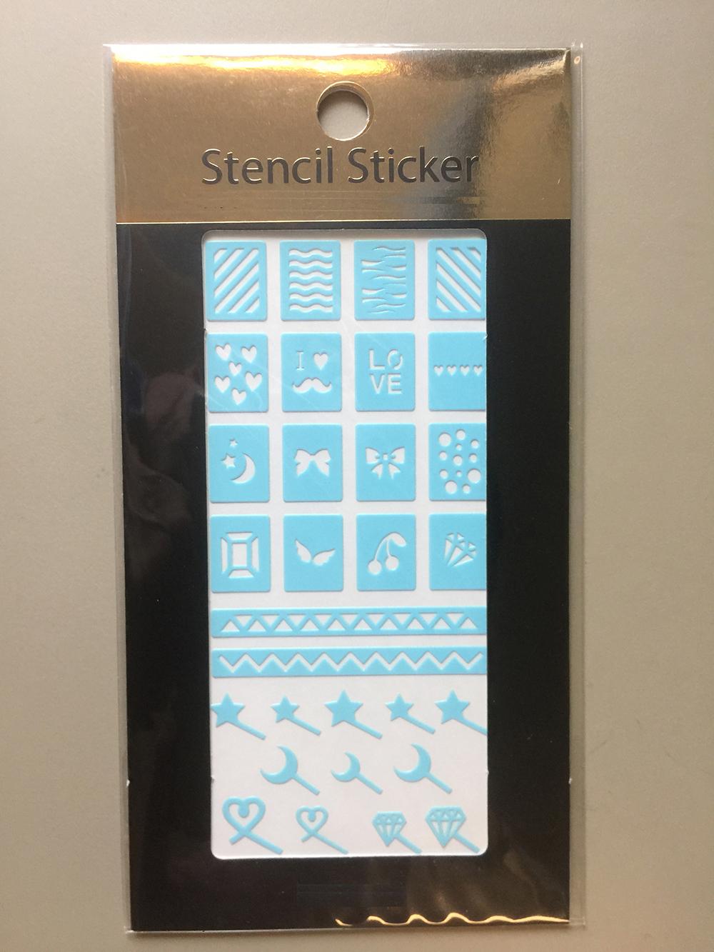 Stencil nail sticker