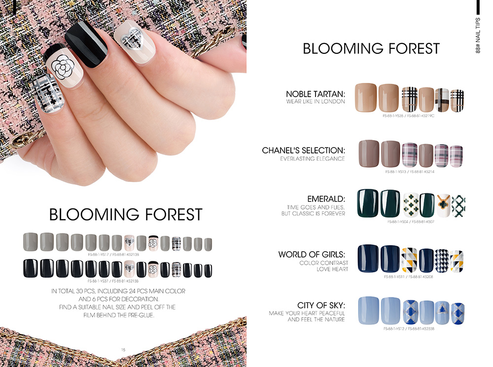 BLOOMING FOREST NAIL TIPS
