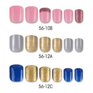 LUXURIOUS HIGHLIGHT SQUARE NAIL TIPS
