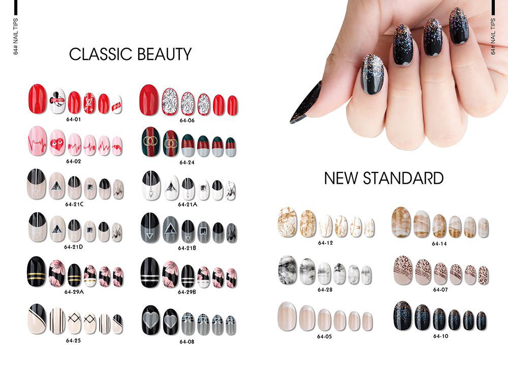 CLASSIC BEAUTY OVAL NAIL TIPS