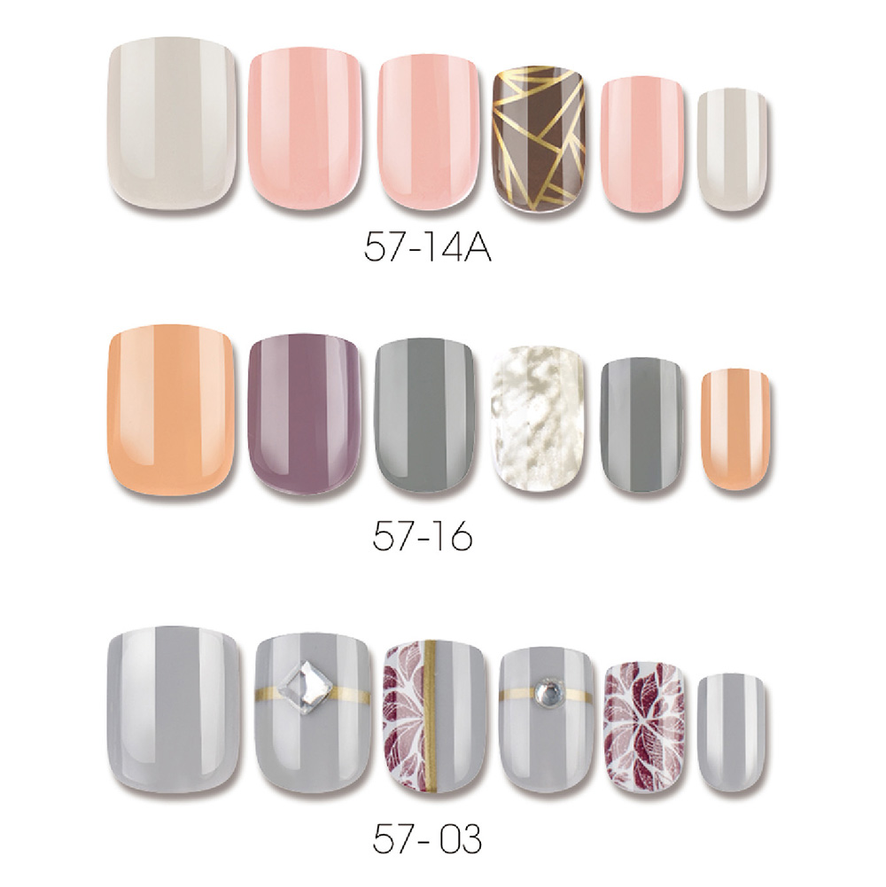 MORANDI COLORS SQUARE NAIL TIPS